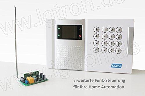LGtron GSM Funk Alarmanlage LGD8003 (Deutschsprachige Menuefuehrung, Sprachausgabe und Bedienungsanleitung) mit 868 MHz Funk-Sicherheitsfrequenzband, bei Alarm Anruf/SMS, Mittels Android/iOS-App steuerbar, Service und Support - 9